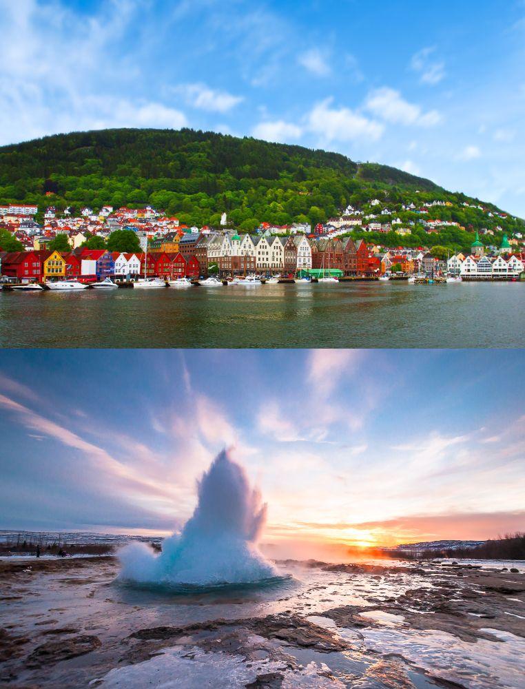 Norwegen und Island
