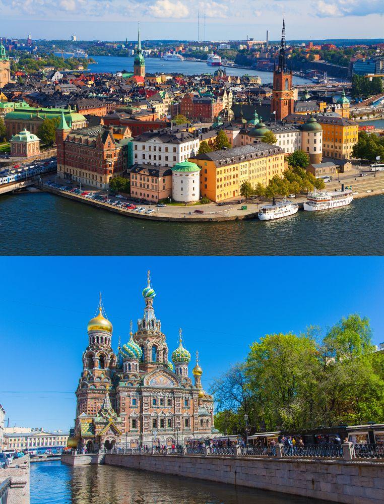 Stockhom und St. Petersburg