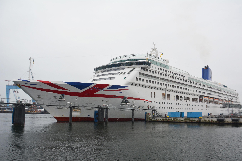 Kreuzfahrtschiff Auroa von P&O Cruises in Kiel